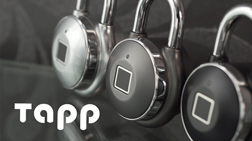 暗証番号を覚える必要のない、指紋でロック解除できるスマート南京錠 Tapplock one(タップロック ワン) スマートキー スマートロック