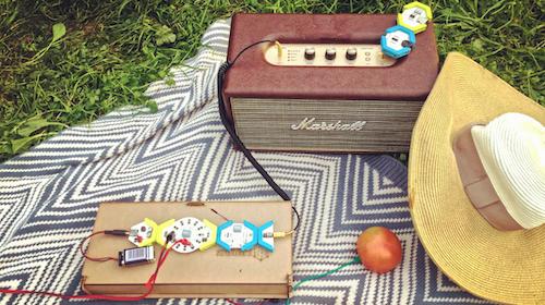 世界のあらゆるモノを楽器にしよう!遊びながら学べるブロックモジュールキット「HoneyComb Music Kit」(ハニカム ミュージック キット)