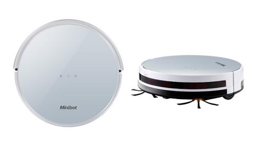 吸い込み掃除と拭き掃除が1台で可能なスマートロボット掃除機 minibot スマートロボット掃除機