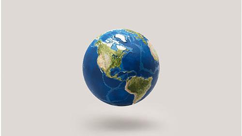 スマートフォンから地球を細部まで見学できるAR機能付き地球モデルEARTH AR (アース エー アール)