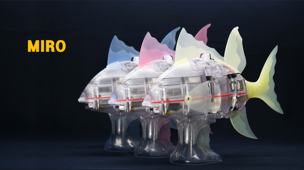 本物の魚のように泳ぐロボットフィッシュ「MIRO-5」(マイロファイブ)
